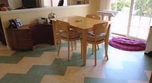 Linoleum floor
